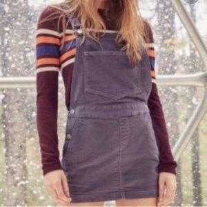 Urban Outfitters Velvet Overall Skirt Purple S